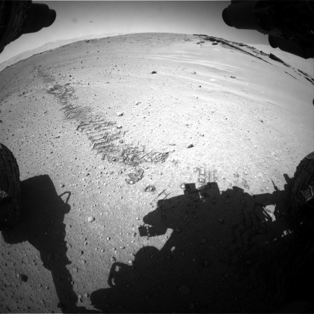 Nasa's Mars rover Curiosity acquired this image using its Front Hazard Avoidance Camera (Front Hazcam) on Sol 548, at drive 748, site number 27