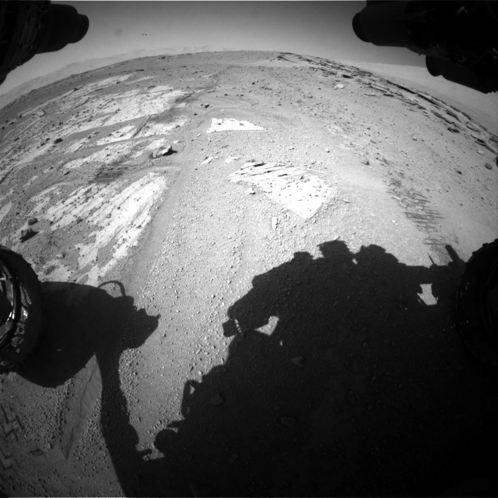 Nasa's Mars rover Curiosity acquired this image using its Front Hazard Avoidance Camera (Front Hazcam) on Sol 548, at drive 832, site number 27