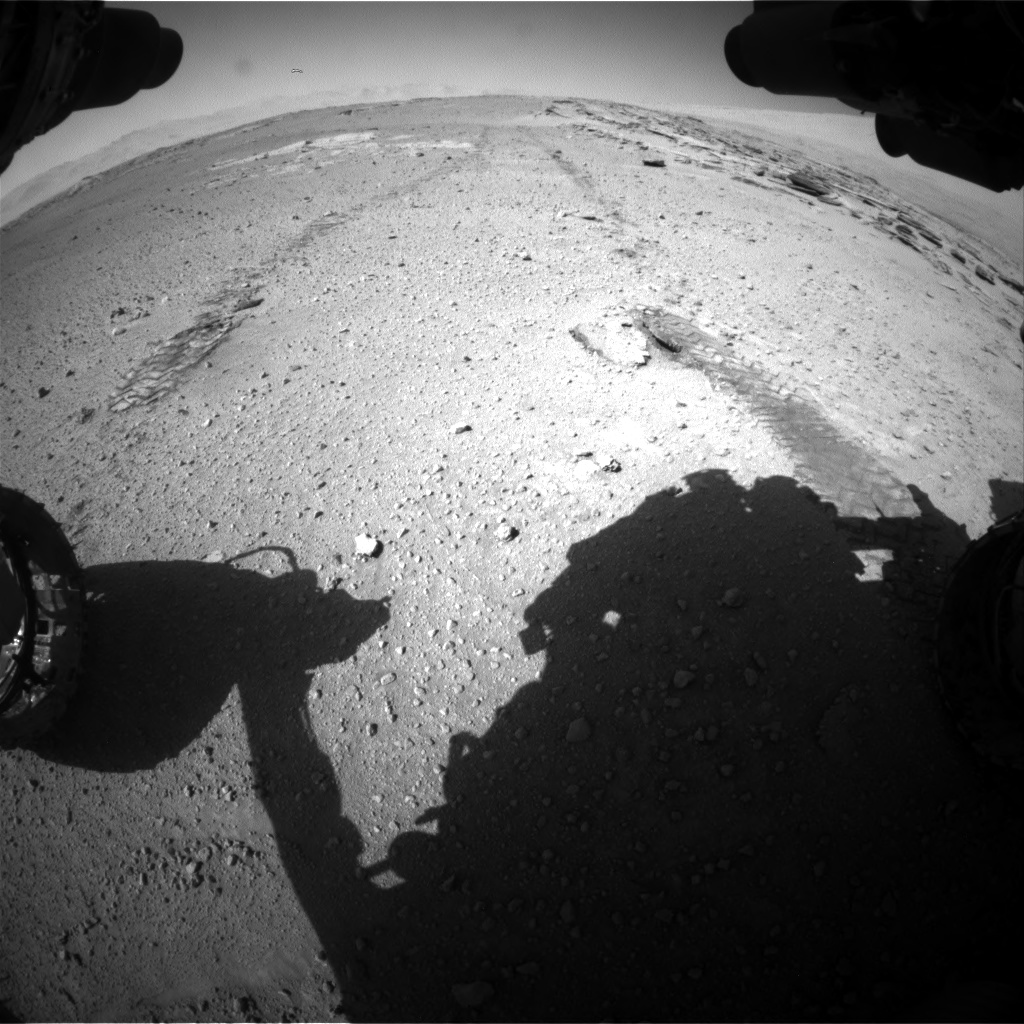 Nasa's Mars rover Curiosity acquired this image using its Front Hazard Avoidance Camera (Front Hazcam) on Sol 548, at drive 880, site number 27