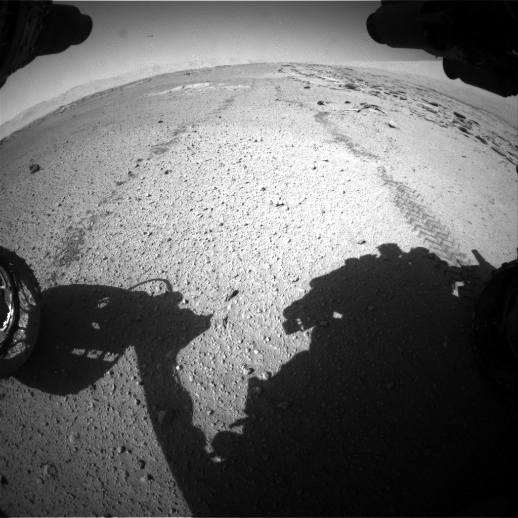 Nasa's Mars rover Curiosity acquired this image using its Front Hazard Avoidance Camera (Front Hazcam) on Sol 548, at drive 910, site number 27
