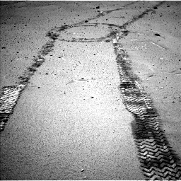 Nasa's Mars rover Curiosity acquired this image using its Left Navigation Camera on Sol 548, at drive 586, site number 27