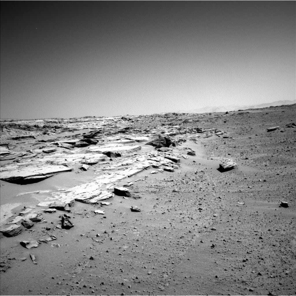 Nasa's Mars rover Curiosity acquired this image using its Left Navigation Camera on Sol 548, at drive 802, site number 27