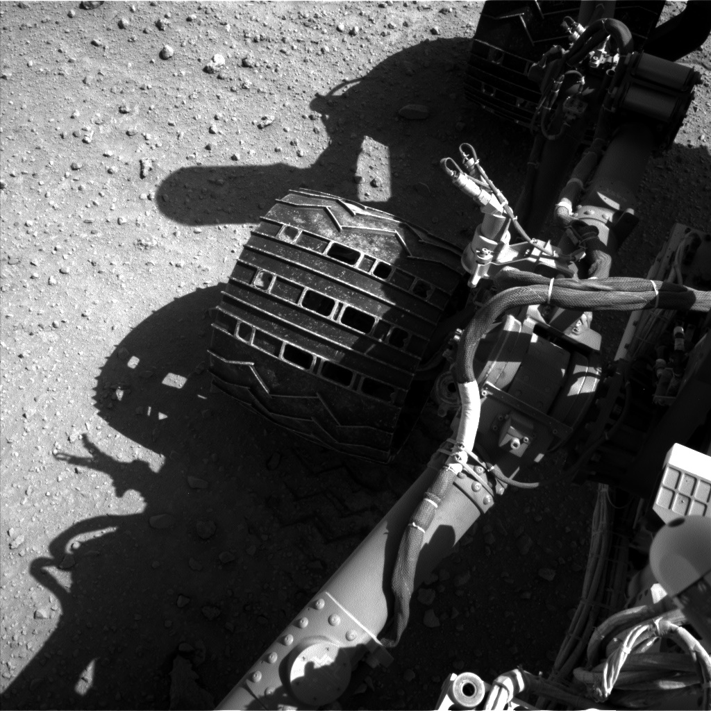 Nasa's Mars rover Curiosity acquired this image using its Left Navigation Camera on Sol 548, at drive 856, site number 27