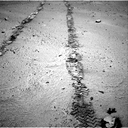 Nasa's Mars rover Curiosity acquired this image using its Right Navigation Camera on Sol 548, at drive 670, site number 27