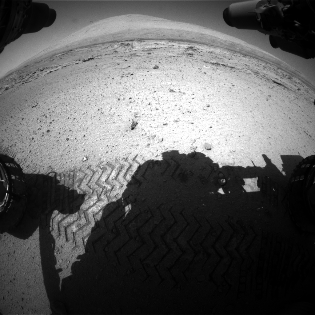Nasa's Mars rover Curiosity acquired this image using its Front Hazard Avoidance Camera (Front Hazcam) on Sol 549, at drive 968, site number 27