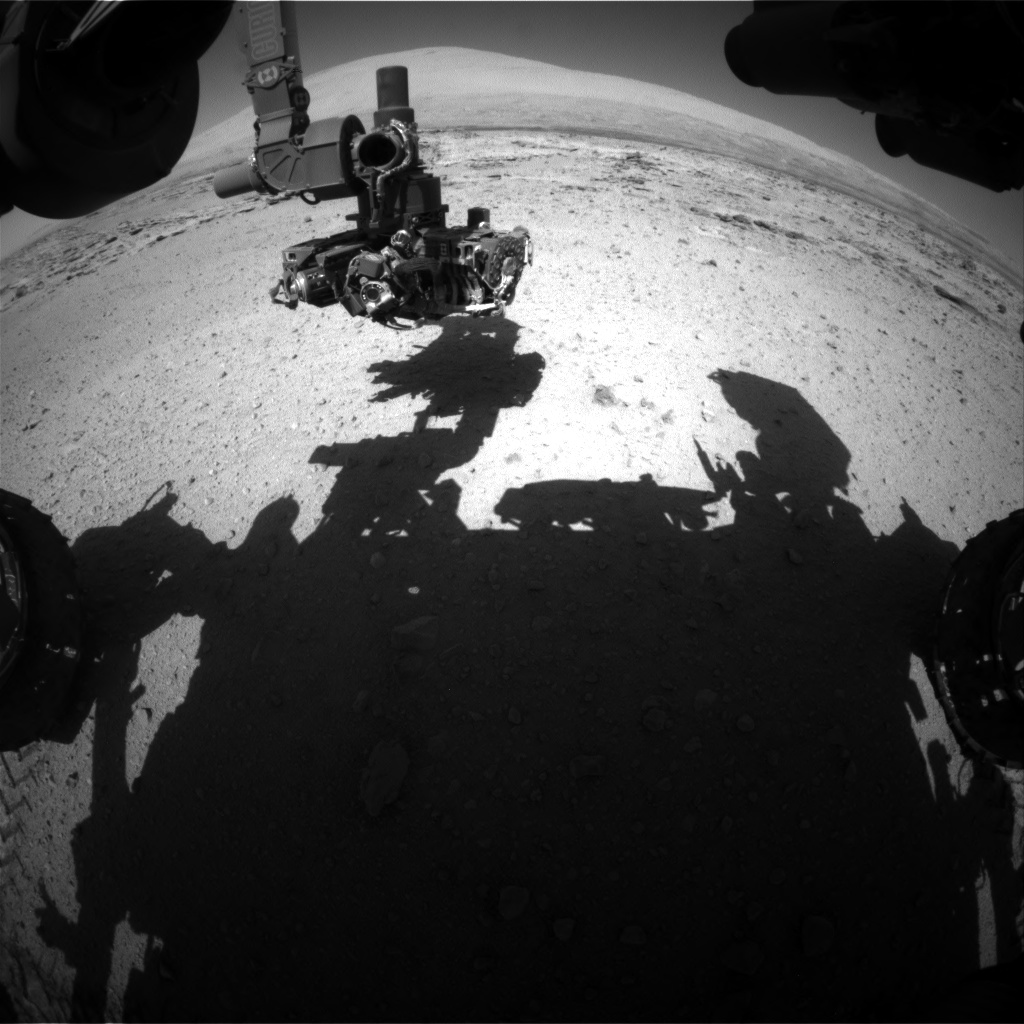 Nasa's Mars rover Curiosity acquired this image using its Front Hazard Avoidance Camera (Front Hazcam) on Sol 549, at drive 986, site number 27