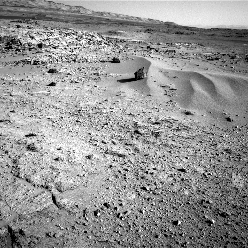 Nasa's Mars rover Curiosity acquired this image using its Right Navigation Camera on Sol 549, at drive 1004, site number 27
