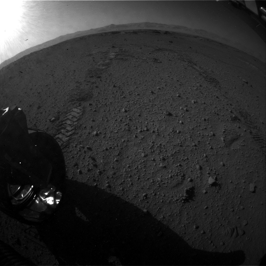 NASA's Mars rover Curiosity acquired this image using its Rear Hazard Avoidance Cameras (Rear Hazcams) on Sol 549