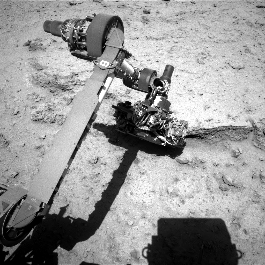 Nasa's Mars rover Curiosity acquired this image using its Left Navigation Camera on Sol 550, at drive 1004, site number 27