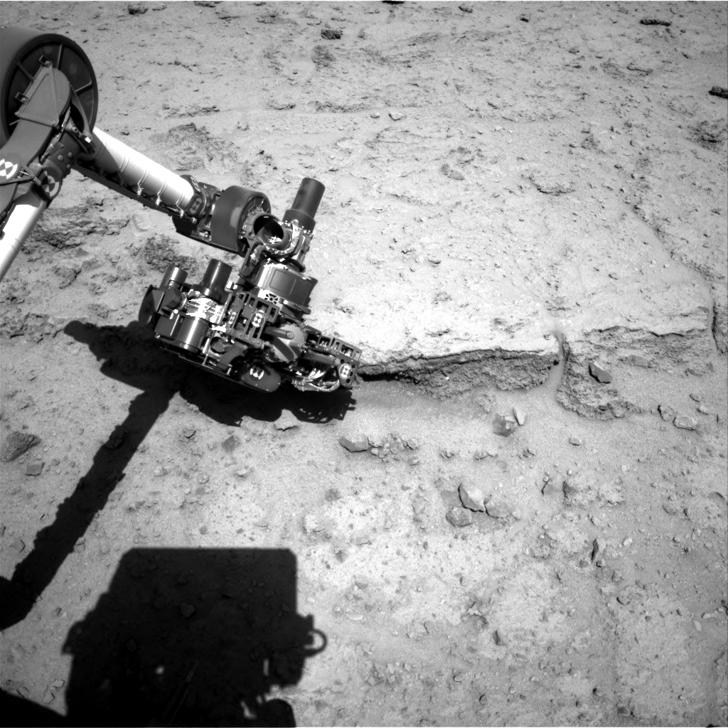 Nasa's Mars rover Curiosity acquired this image using its Right Navigation Camera on Sol 550, at drive 1004, site number 27