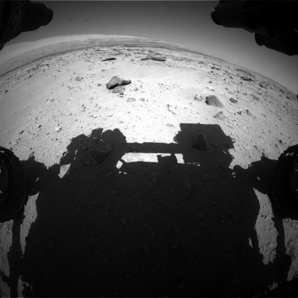 Nasa's Mars rover Curiosity acquired this image using its Front Hazard Avoidance Camera (Front Hazcam) on Sol 551, at drive 1124, site number 27