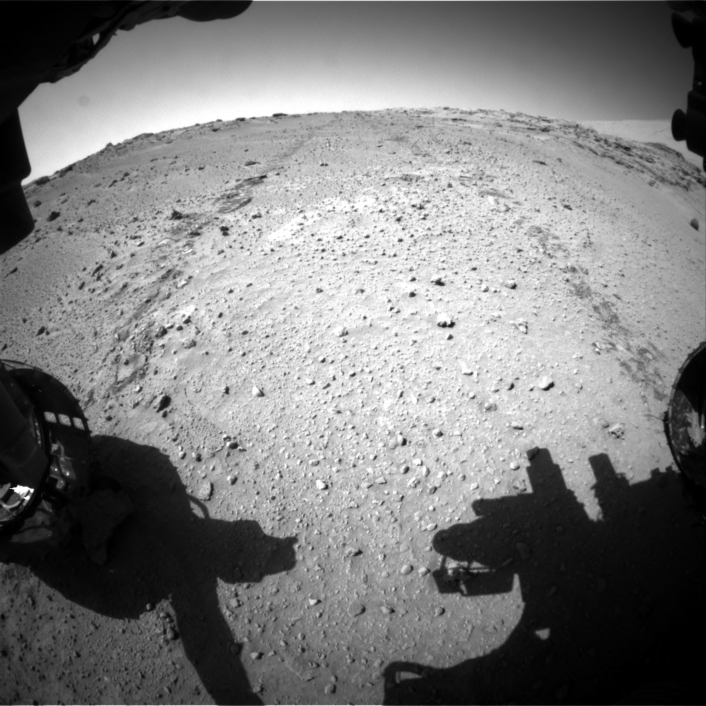 Nasa's Mars rover Curiosity acquired this image using its Front Hazard Avoidance Camera (Front Hazcam) on Sol 552, at drive 1376, site number 27