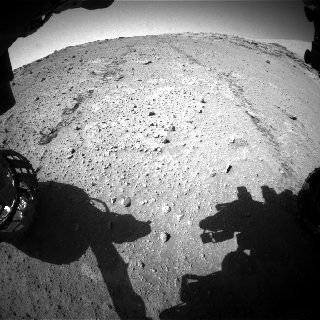 Nasa's Mars rover Curiosity acquired this image using its Front Hazard Avoidance Camera (Front Hazcam) on Sol 552, at drive 1400, site number 27