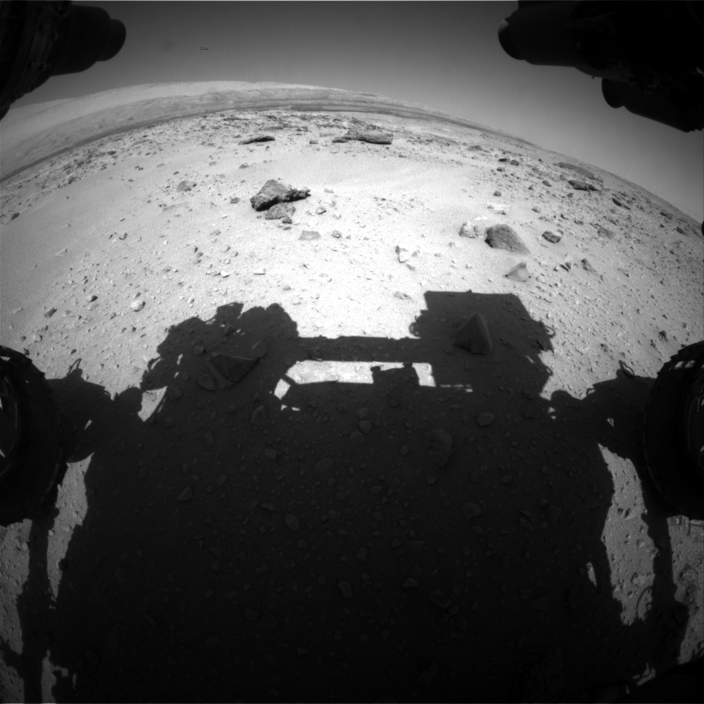 Nasa's Mars rover Curiosity acquired this image using its Front Hazard Avoidance Camera (Front Hazcam) on Sol 552, at drive 1124, site number 27