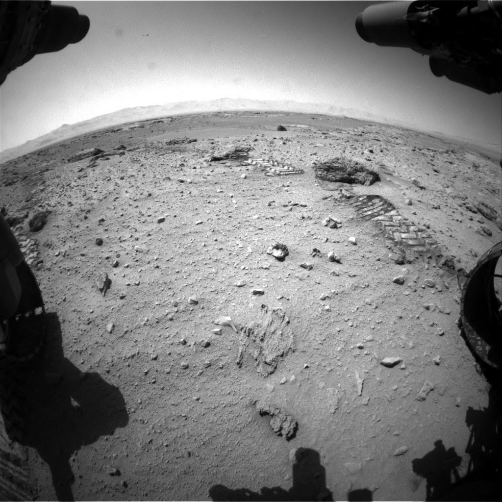 Nasa's Mars rover Curiosity acquired this image using its Front Hazard Avoidance Camera (Front Hazcam) on Sol 552, at drive 1250, site number 27