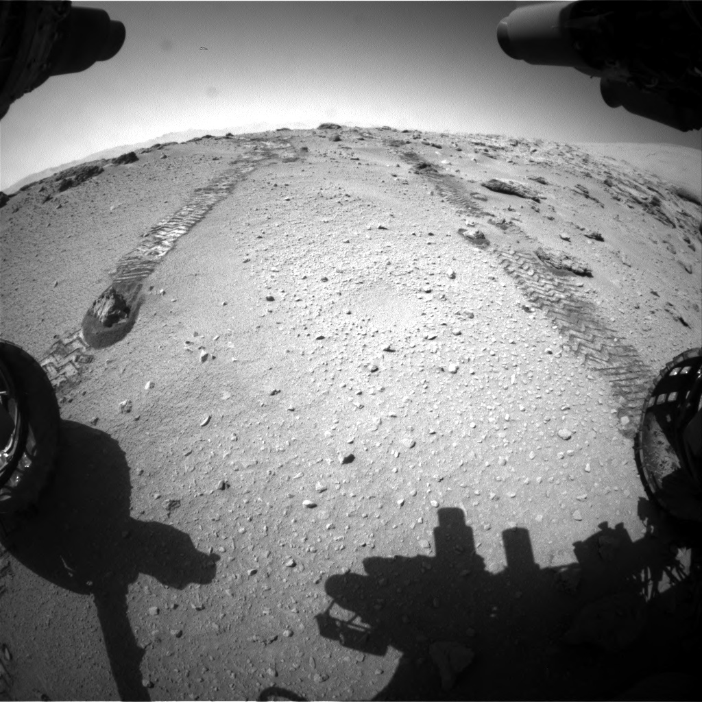 Nasa's Mars rover Curiosity acquired this image using its Front Hazard Avoidance Camera (Front Hazcam) on Sol 552, at drive 1280, site number 27