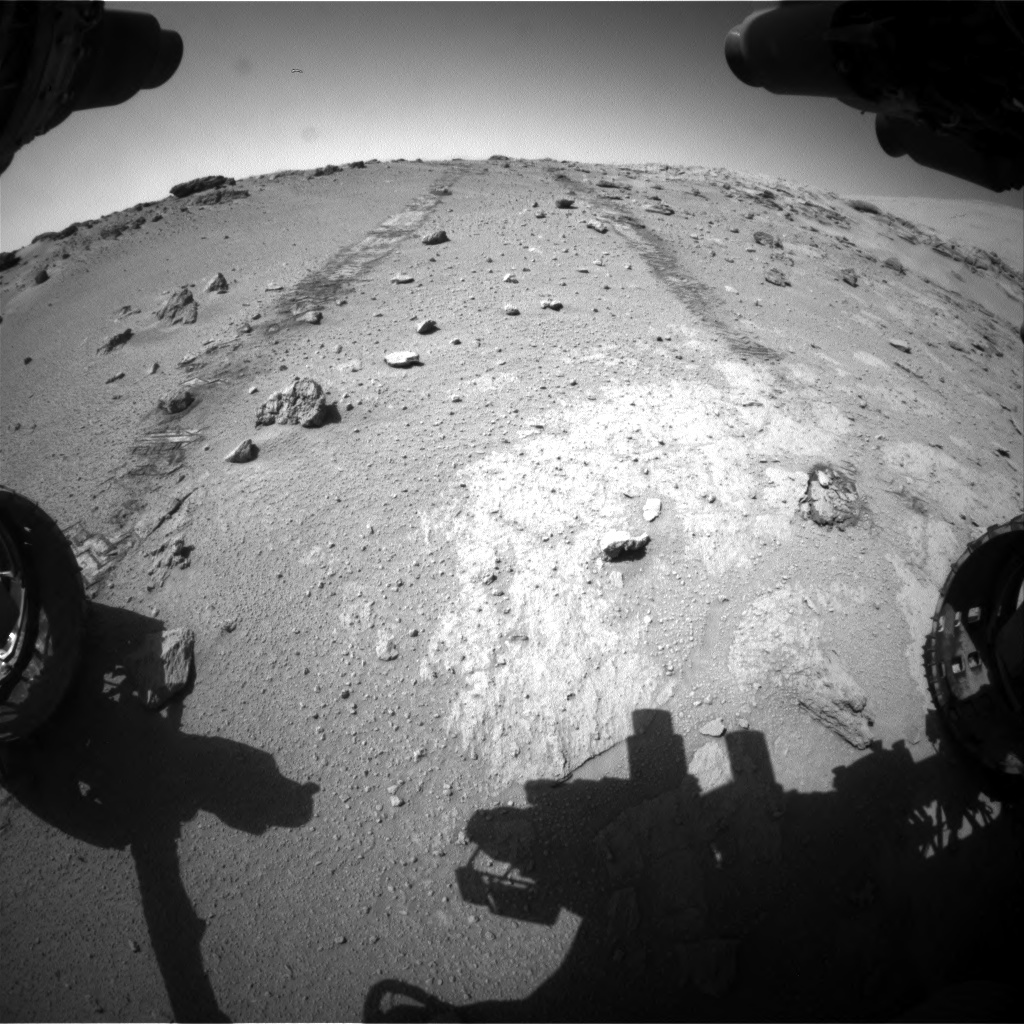 Nasa's Mars rover Curiosity acquired this image using its Front Hazard Avoidance Camera (Front Hazcam) on Sol 552, at drive 1298, site number 27