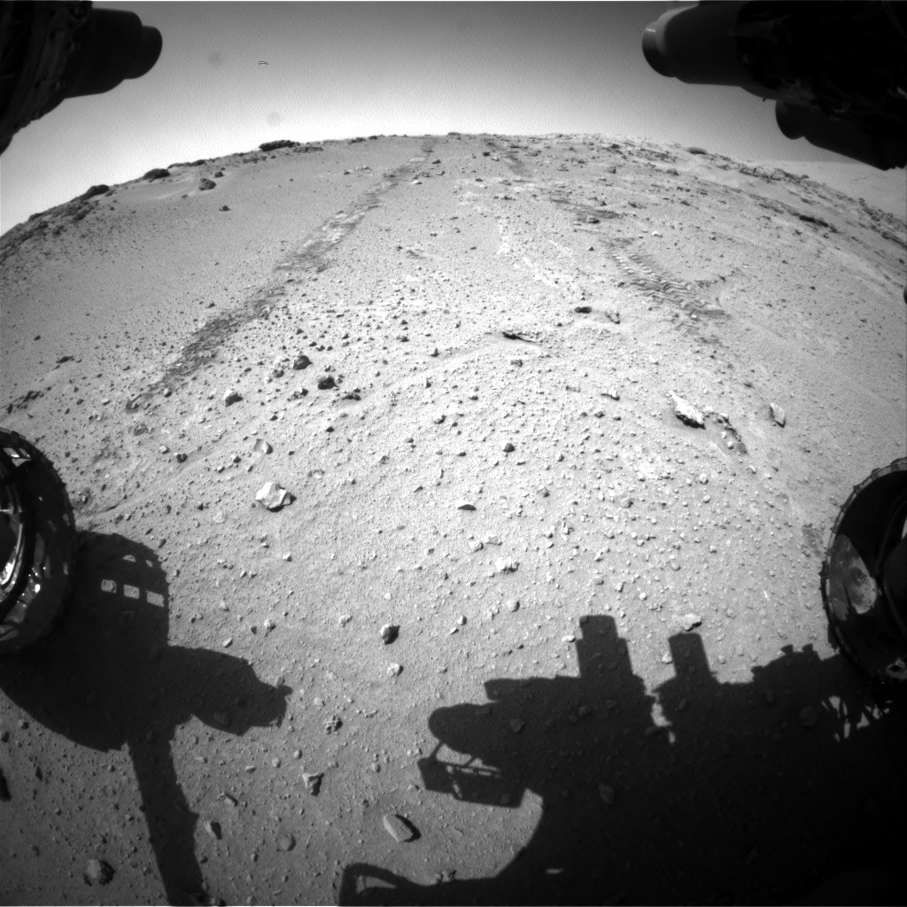 Nasa's Mars rover Curiosity acquired this image using its Front Hazard Avoidance Camera (Front Hazcam) on Sol 552, at drive 1316, site number 27