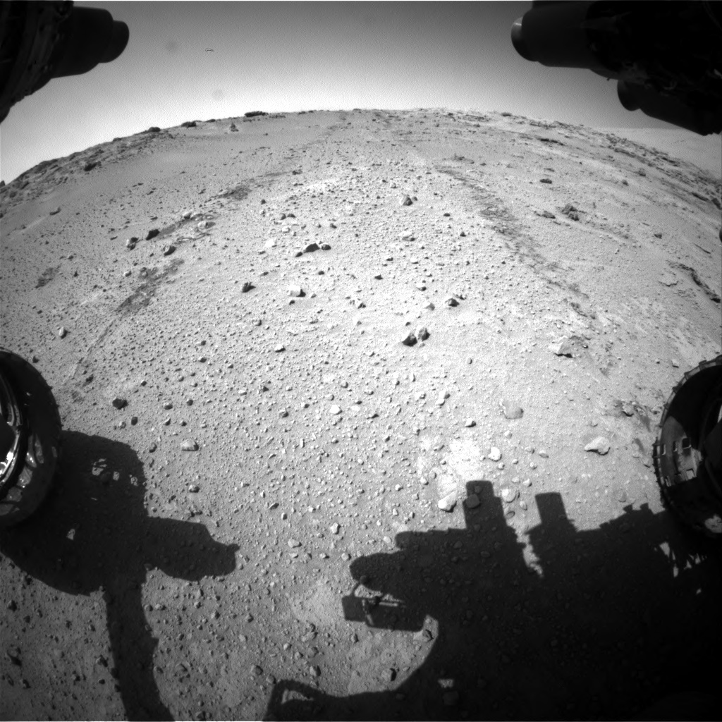 Nasa's Mars rover Curiosity acquired this image using its Front Hazard Avoidance Camera (Front Hazcam) on Sol 552, at drive 1340, site number 27