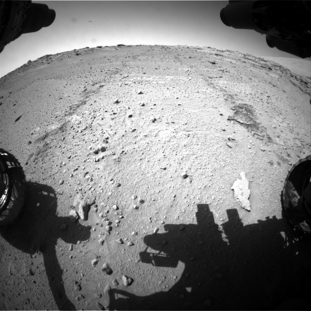 Nasa's Mars rover Curiosity acquired this image using its Front Hazard Avoidance Camera (Front Hazcam) on Sol 552, at drive 1358, site number 27