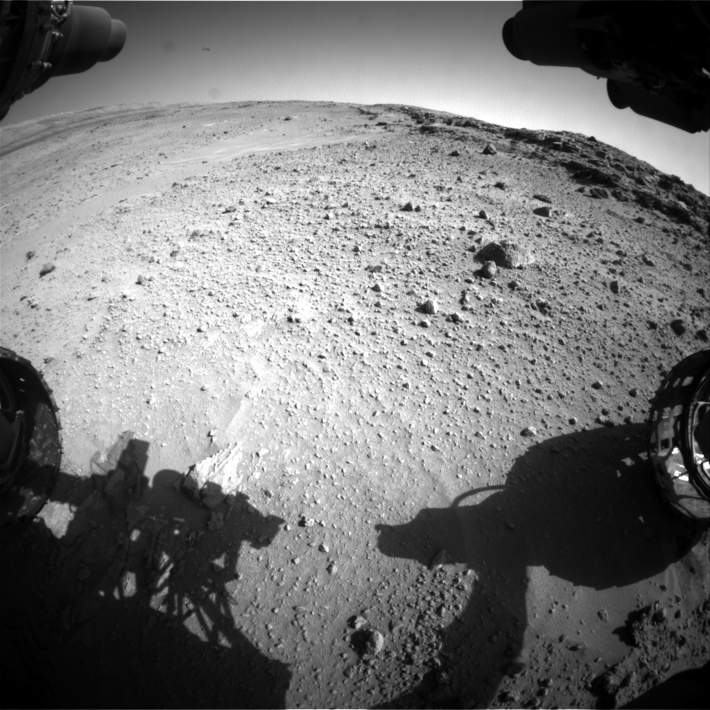 Nasa's Mars rover Curiosity acquired this image using its Front Hazard Avoidance Camera (Front Hazcam) on Sol 552, at drive 0, site number 28