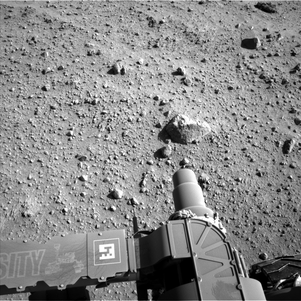 Nasa's Mars rover Curiosity acquired this image using its Left Navigation Camera on Sol 552, at drive 0, site number 28