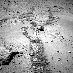 Nasa's Mars rover Curiosity acquired this image using its Right Navigation Camera on Sol 552, at drive 1220, site number 27