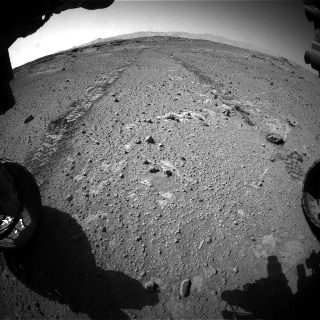 Nasa's Mars rover Curiosity acquired this image using its Front Hazard Avoidance Camera (Front Hazcam) on Sol 553, at drive 234, site number 28
