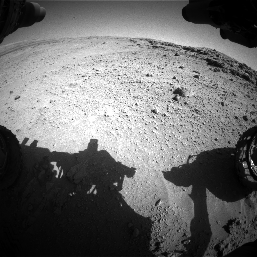 Nasa's Mars rover Curiosity acquired this image using its Front Hazard Avoidance Camera (Front Hazcam) on Sol 553, at drive 0, site number 28