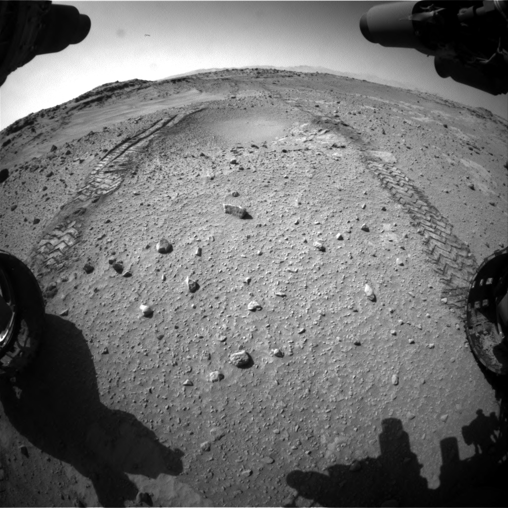 Nasa's Mars rover Curiosity acquired this image using its Front Hazard Avoidance Camera (Front Hazcam) on Sol 553, at drive 150, site number 28