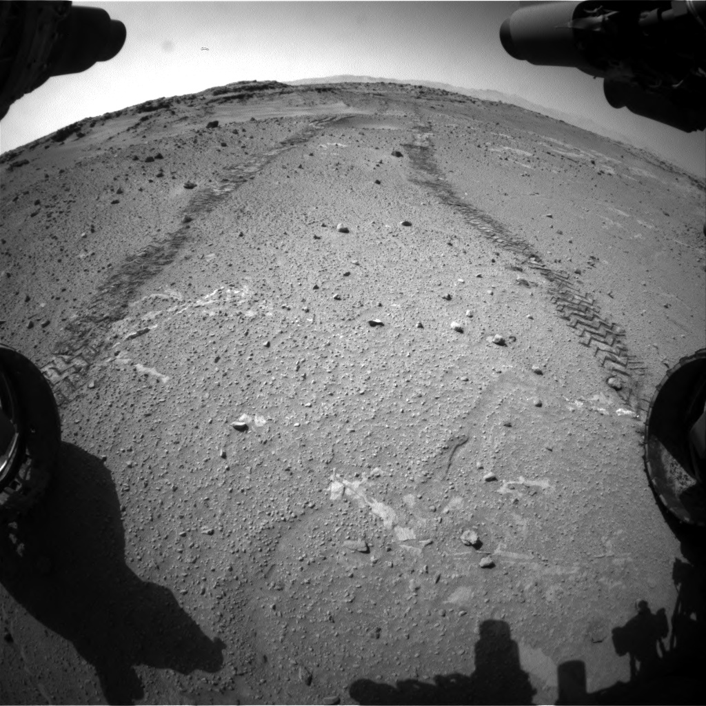 Nasa's Mars rover Curiosity acquired this image using its Front Hazard Avoidance Camera (Front Hazcam) on Sol 553, at drive 174, site number 28