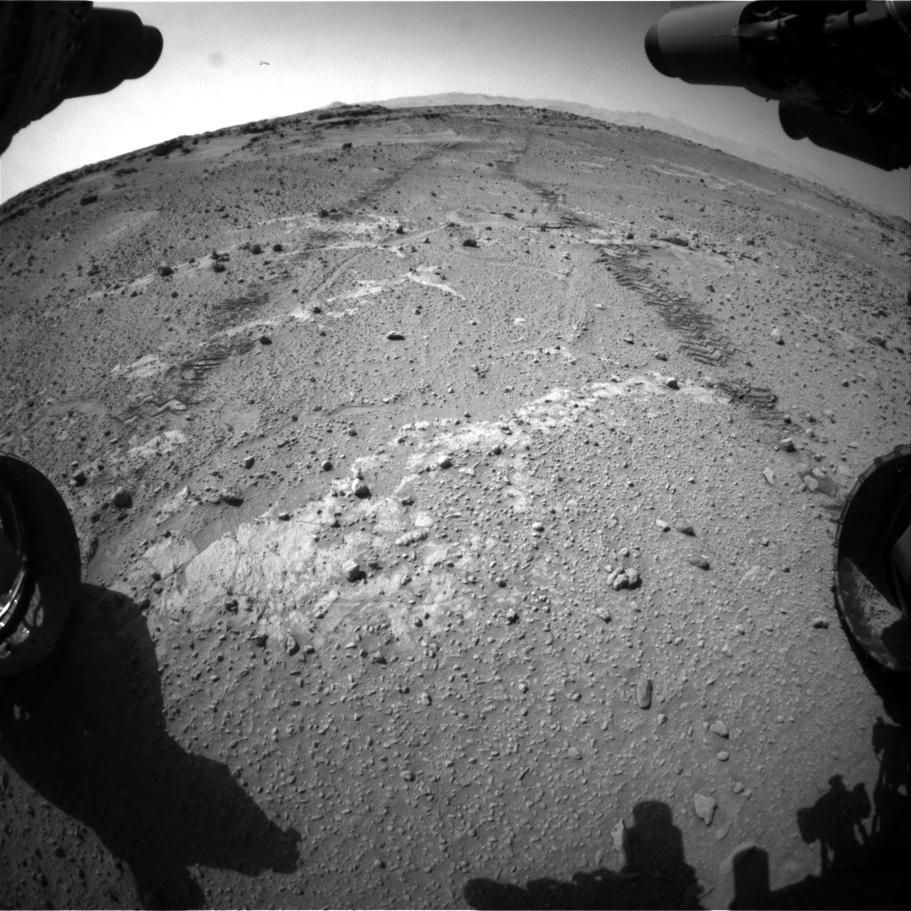 Nasa's Mars rover Curiosity acquired this image using its Front Hazard Avoidance Camera (Front Hazcam) on Sol 553, at drive 192, site number 28