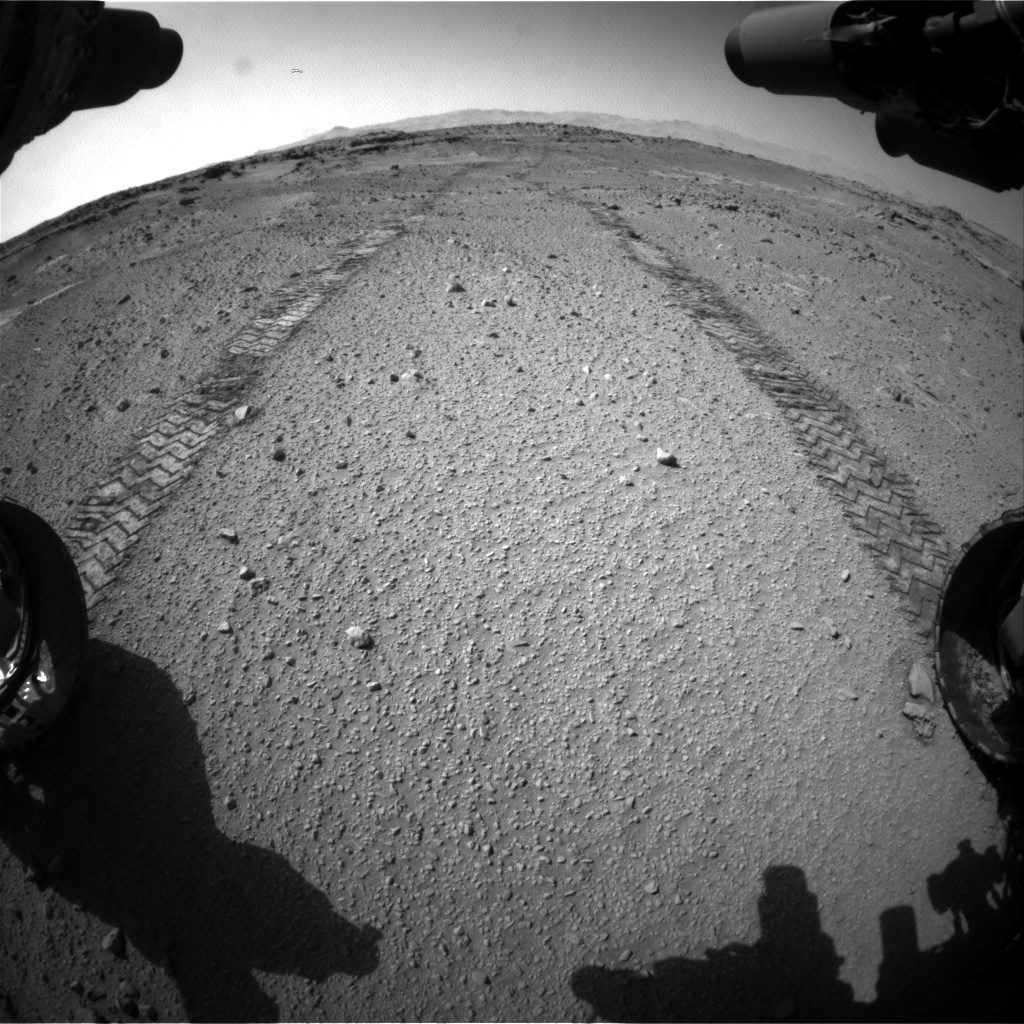 Nasa's Mars rover Curiosity acquired this image using its Front Hazard Avoidance Camera (Front Hazcam) on Sol 553, at drive 216, site number 28