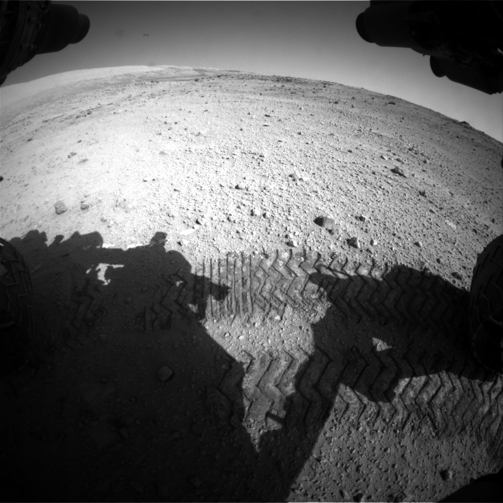 Nasa's Mars rover Curiosity acquired this image using its Front Hazard Avoidance Camera (Front Hazcam) on Sol 553, at drive 240, site number 28