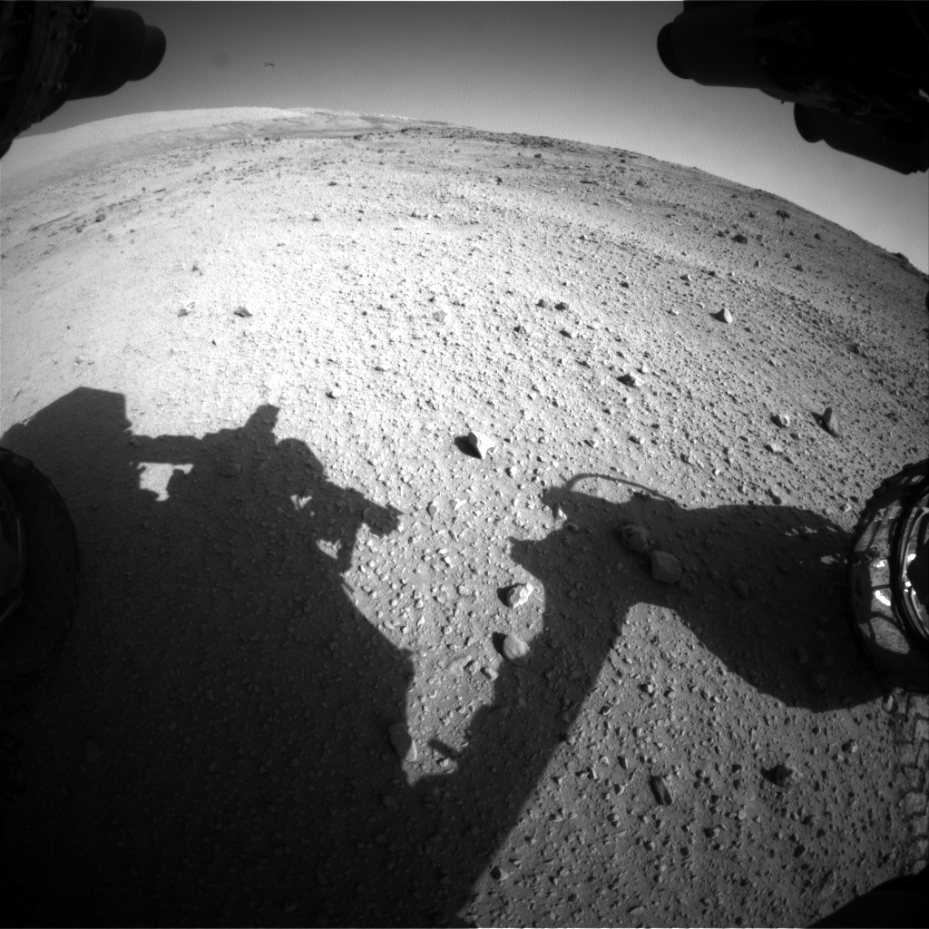 Nasa's Mars rover Curiosity acquired this image using its Front Hazard Avoidance Camera (Front Hazcam) on Sol 553, at drive 264, site number 28