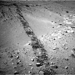 Nasa's Mars rover Curiosity acquired this image using its Left Navigation Camera on Sol 553, at drive 90, site number 28