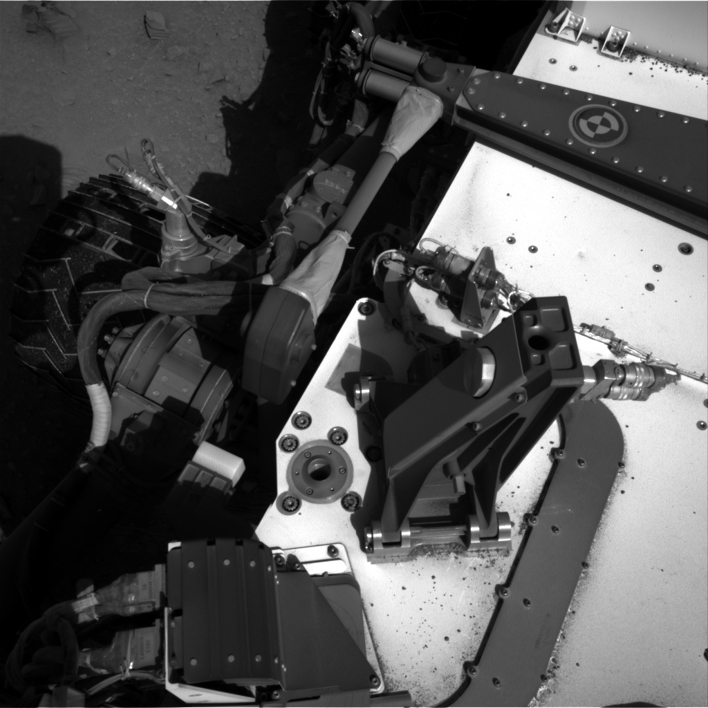 Nasa's Mars rover Curiosity acquired this image using its Right Navigation Camera on Sol 553, at drive 66, site number 28