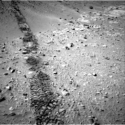 Nasa's Mars rover Curiosity acquired this image using its Right Navigation Camera on Sol 553, at drive 102, site number 28