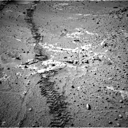 Nasa's Mars rover Curiosity acquired this image using its Right Navigation Camera on Sol 553, at drive 192, site number 28