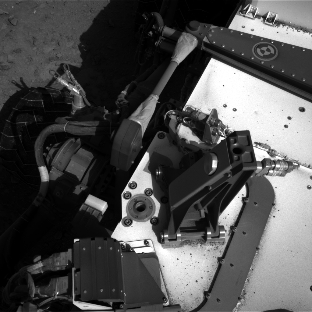 Nasa's Mars rover Curiosity acquired this image using its Right Navigation Camera on Sol 553, at drive 234, site number 28