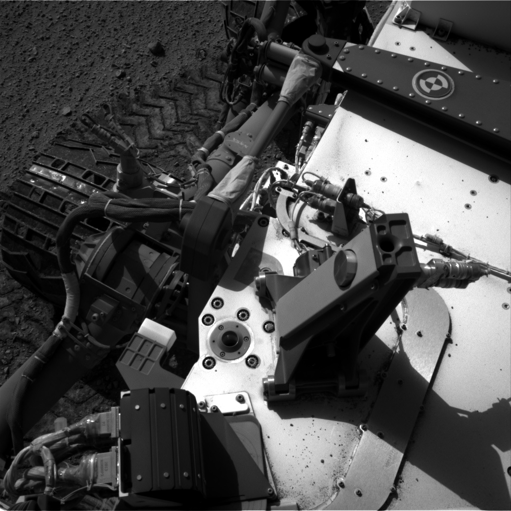 Nasa's Mars rover Curiosity acquired this image using its Right Navigation Camera on Sol 553, at drive 240, site number 28