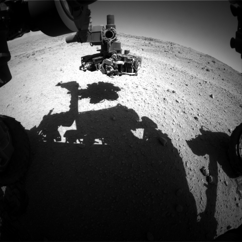 Nasa's Mars rover Curiosity acquired this image using its Front Hazard Avoidance Camera (Front Hazcam) on Sol 554, at drive 280, site number 28