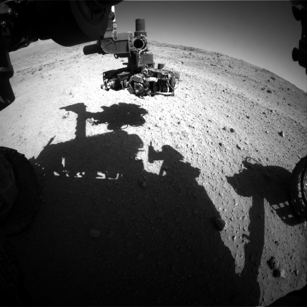 Nasa's Mars rover Curiosity acquired this image using its Front Hazard Avoidance Camera (Front Hazcam) on Sol 554, at drive 286, site number 28