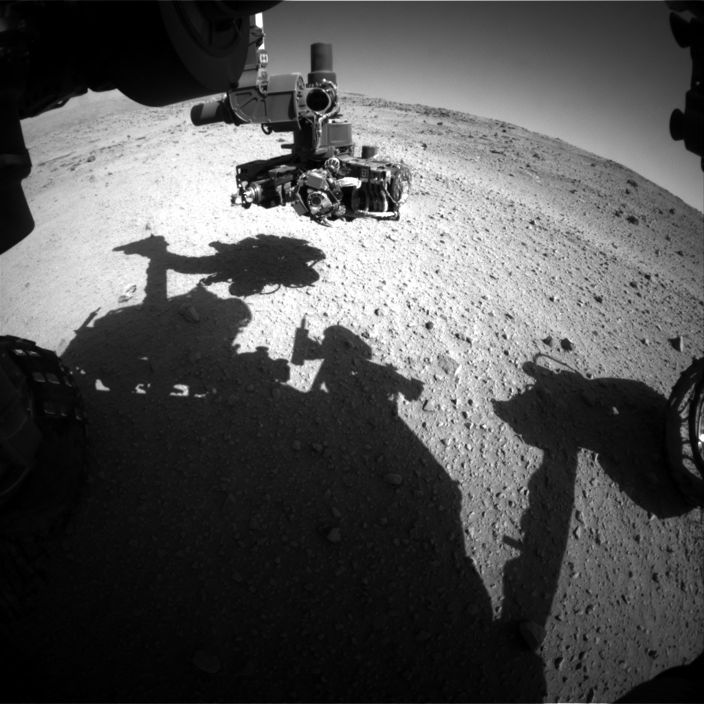 Nasa's Mars rover Curiosity acquired this image using its Front Hazard Avoidance Camera (Front Hazcam) on Sol 554, at drive 292, site number 28