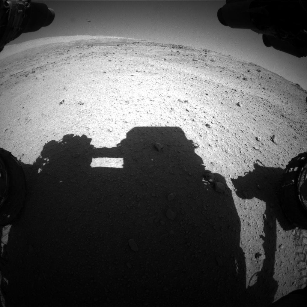 Nasa's Mars rover Curiosity acquired this image using its Front Hazard Avoidance Camera (Front Hazcam) on Sol 554, at drive 264, site number 28