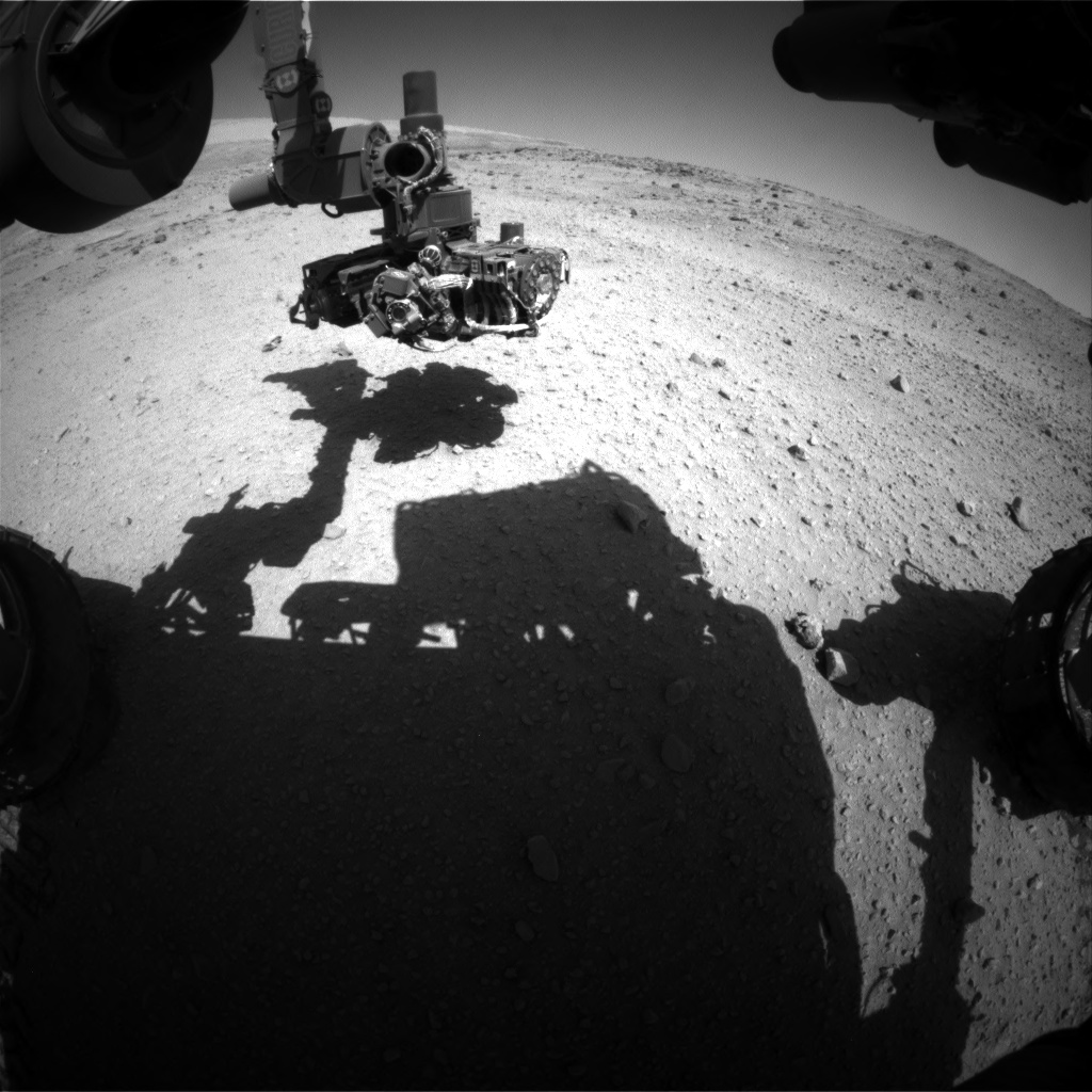 Nasa's Mars rover Curiosity acquired this image using its Front Hazard Avoidance Camera (Front Hazcam) on Sol 554, at drive 274, site number 28