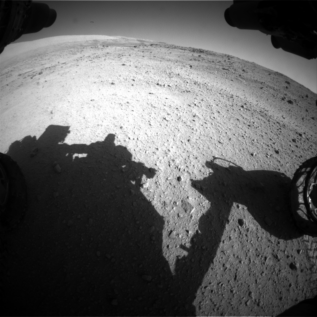 Nasa's Mars rover Curiosity acquired this image using its Front Hazard Avoidance Camera (Front Hazcam) on Sol 554, at drive 298, site number 28