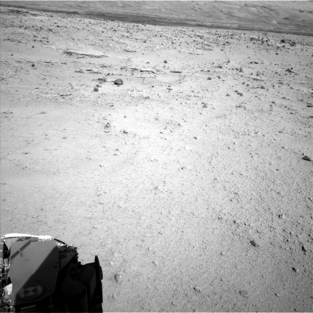 Nasa's Mars rover Curiosity acquired this image using its Left Navigation Camera on Sol 554, at drive 298, site number 28