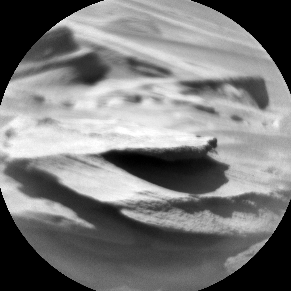 Nasa's Mars rover Curiosity acquired this image using its Chemistry & Camera (ChemCam) on Sol 554, at drive 264, site number 28