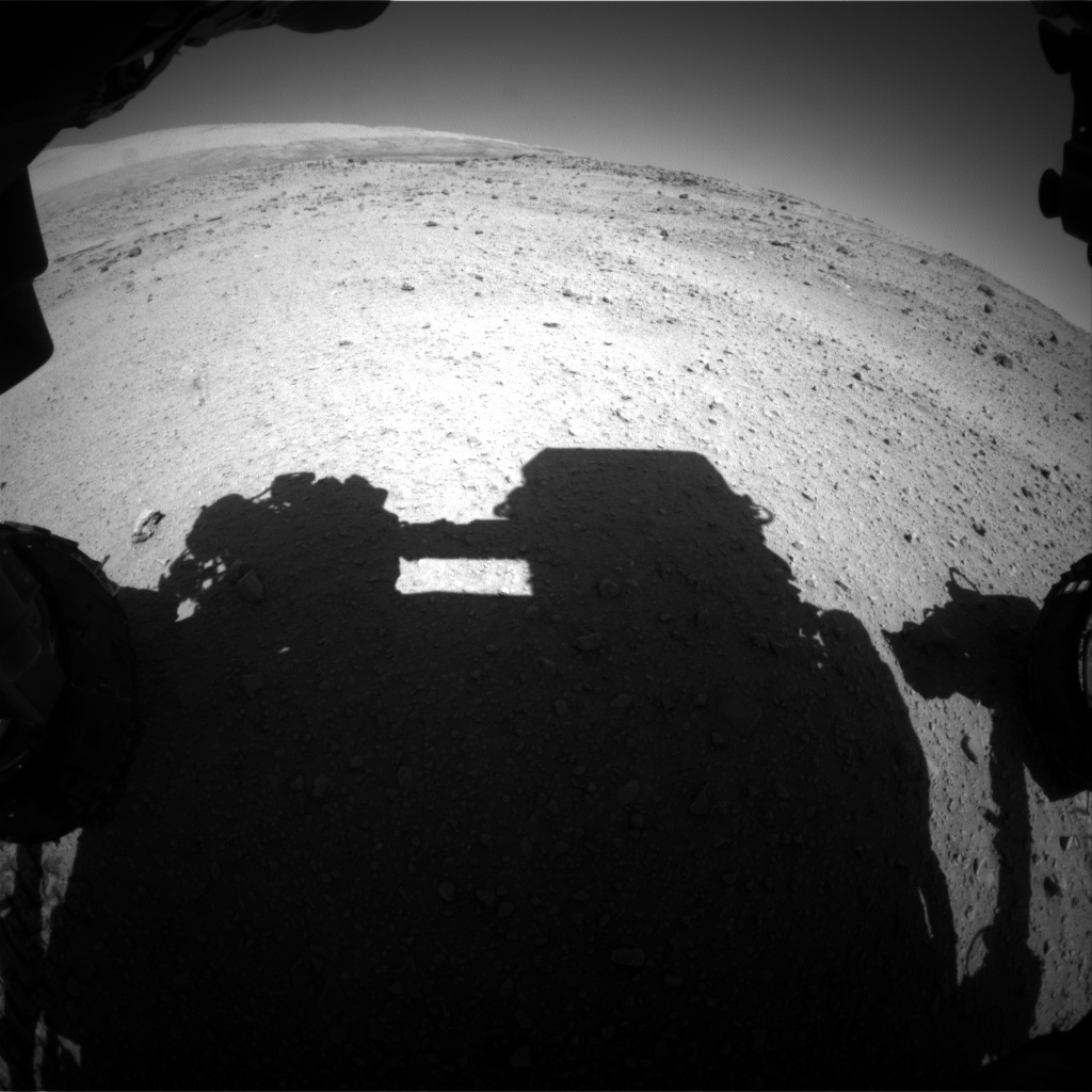 NASA's Mars rover Curiosity acquired this image using its Front Hazard Avoidance Cameras (Front Hazcams) on Sol 555